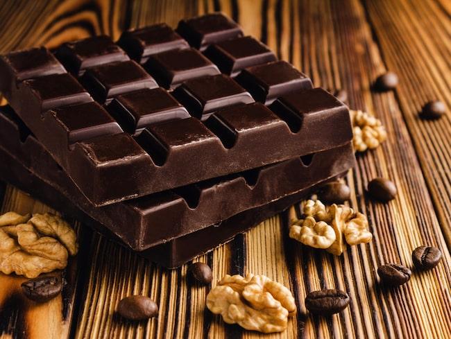 Mörk choklad är full av nyttig prebiotika