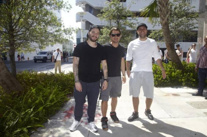 Tidigt på måndagsmorgonen svensk tid gör Swedish House Mafia sin sista spelning någonsin i Miami. Foto: Fredrik Skogkvist