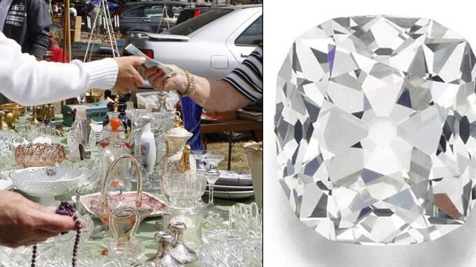 Här är dyrgripen som såldes: En kuddformad diamant på 26 karat.