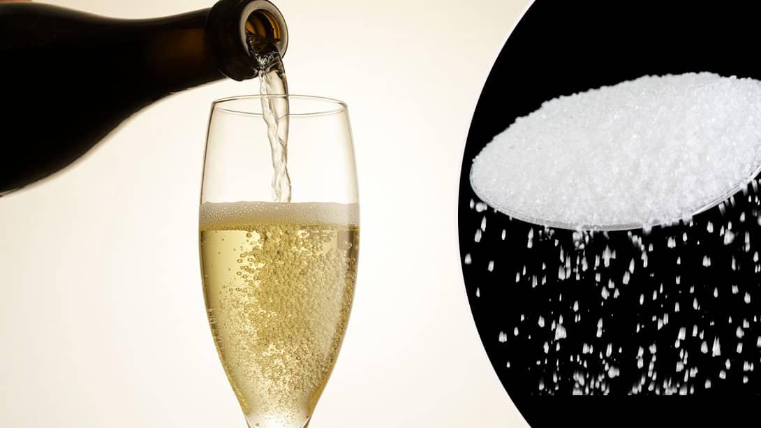 hur mycket socker innehåller vin