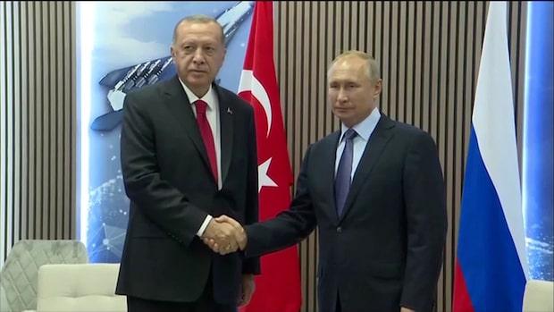 Putin och Erdogan möts för att diskutera Syrien