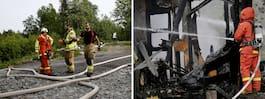 Våldsam brand – hus slukades av lågorna