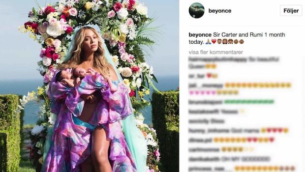 Här är första bilden på Beyoncés tvillingar