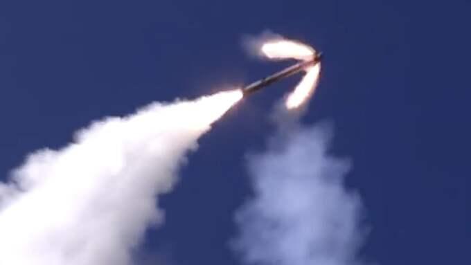 Ryska missiler som avfyrades från en syrisk bas under förra veckan. Foto: AP/TT