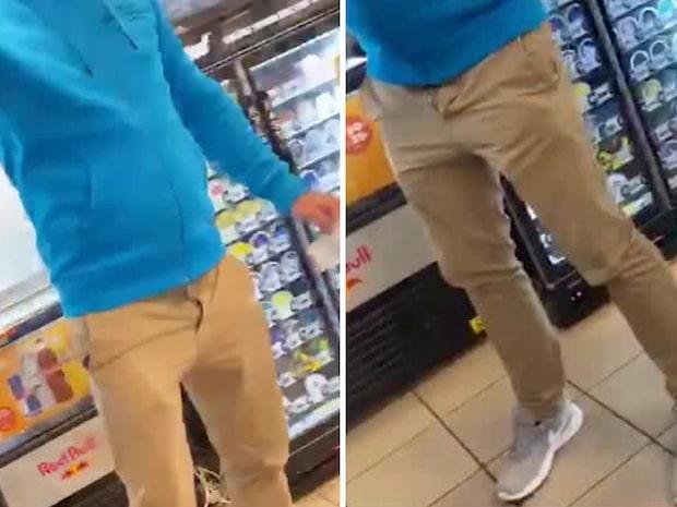 Se videon: Här går mannen till rasistattack mot Agnes och Amina