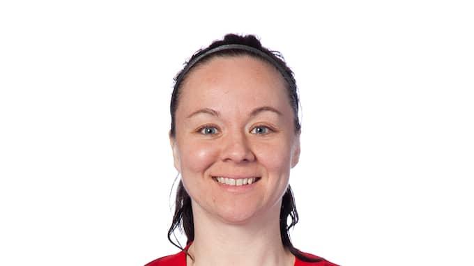June Pedersen avgjorde för Piteå med ett straffmål. Foto: PELLE BÖRJESSON / BILDBYRÅN IDROTTSFOTO