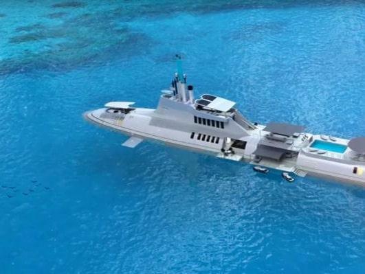 Superyachten från Migaloo kan beställas i längder från 72  till 283 meter.