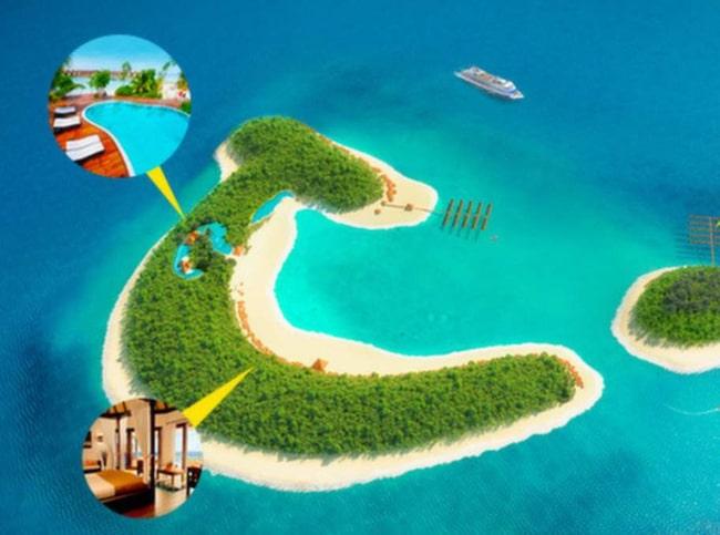 Fritidsresor lanserar en egen semesterö i Stilla havet.