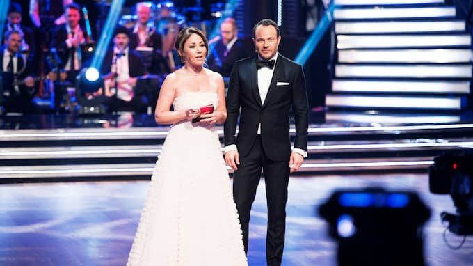 "Tilde de Paula Eby och David Hellenius i ""Let's dance"". Foto: OLLE SPORRONG"