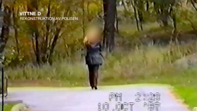 """Det så kallade """"vittne D"""" befann sig i området kring Sveavägen kvällen den 28 februari 1986 – men gav sig till känna först 1997. Elva år efter Palmemordet. Foto: Polisen/TV3"""