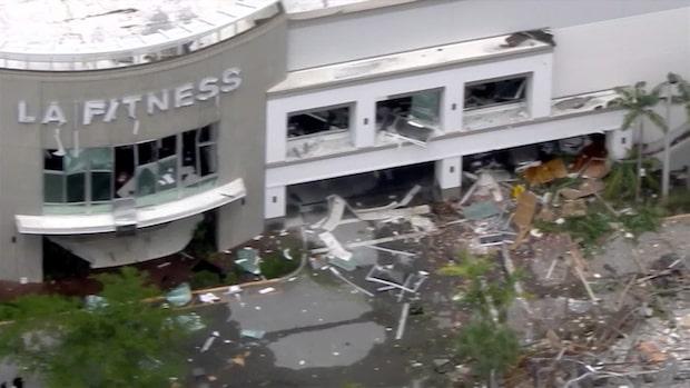 Dramatiska bilderna visar förödelsen efter explosionen