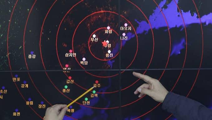 En jordbävning på magnituden 5,1 uppmättes i närheten av en plats där Nordkorea tidigare genomfört kärnvapenprov. Foto: Chung Sung-Jun