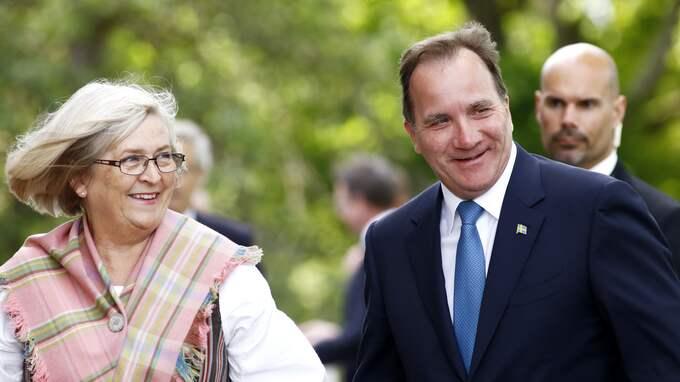 Ulla Löfven, statsministerns, hustru ser ut att kunna ta en plats i kyrkomötet. Foto: PATRIK C ÖSTERBERG / STELLA PICTURES