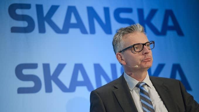 Skanskas vd Johan Karlström. Foto: Leif R Jansson/TT NYHETSBYRÅN