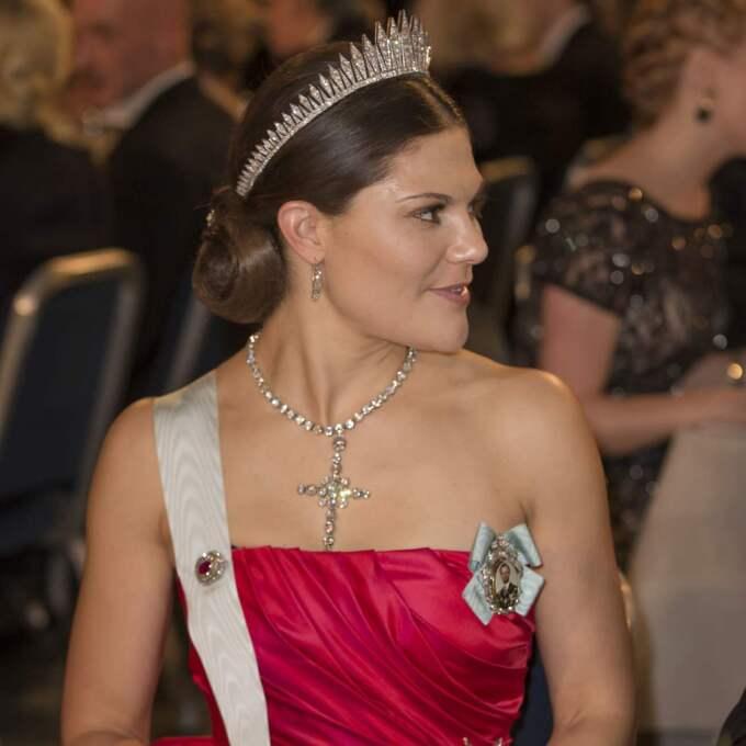 Kronprinsessan Victoria på Nobelfesten 2014. Foto: David Sica