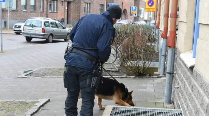 Ett bråk i centrala Landskrona ska ha eskalerat i en skottlossning. Foto: Andre Tajti