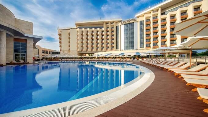 Kempinski Grand Hotel Gelendzhik ligger intill Svarta havet och har flera lyxfaciliteter. Foto: Kempinski.com
