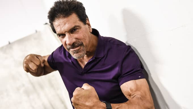 Lou Ferrigno, även känd som Hulken, är på mässan. Foto: JENS CHRISTIAN / EXPRESSEN/KVÄLLSPOSTEN