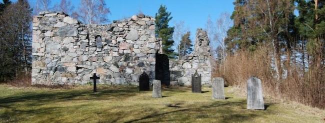 Här är ruinen som är till salu.