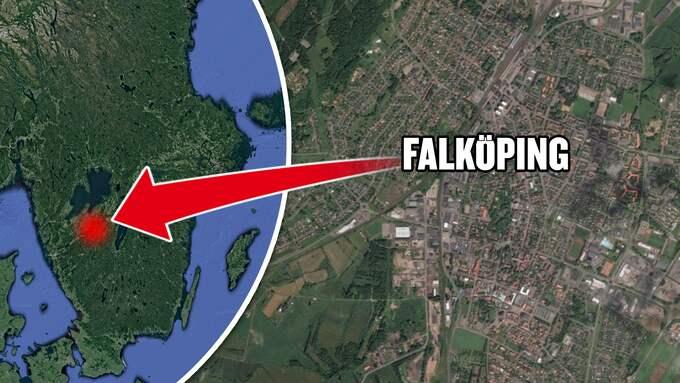 Skalvet inträffade i Falköping. Foto: GOOGLE MAPS