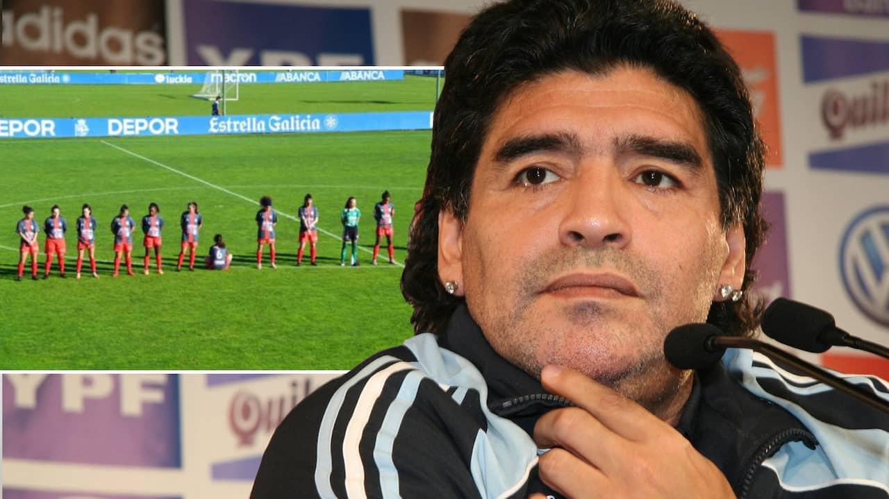 Paula Dapena hotas med livet efter protesten mot Maradona