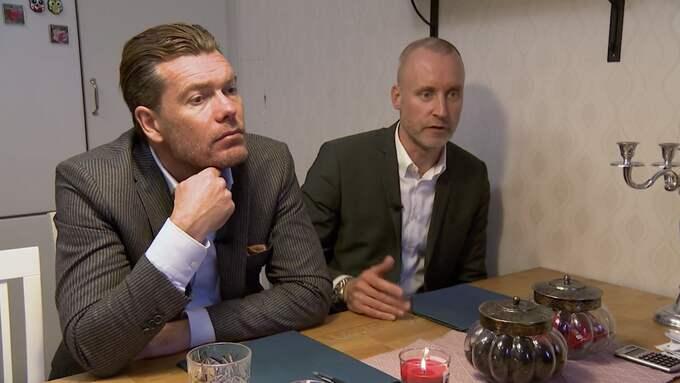 Säsongsavslutning för programledarparet Patrick Grimlund och Magnus Hedberg. Foto: TV3/Lyxfällan
