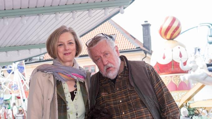 Tillsammans med hustrun Kim tidigare i år. Foto: JACKELINE PEREZ