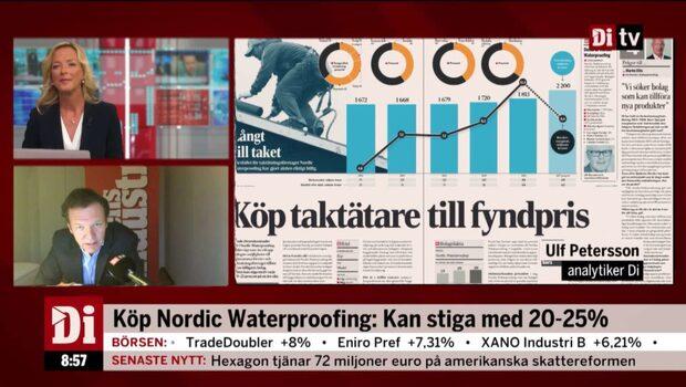 Köp Nordic Waterproofing: Kan stiga med 25%