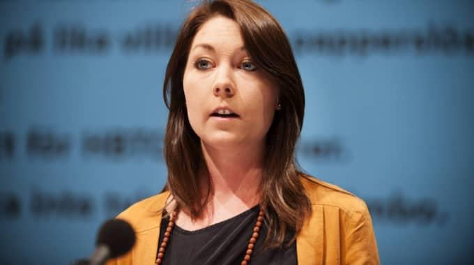 Maria Ferm, MIljöpartiets migrationspolitiska talesperson. Foto: Anna-Karin Nilsson