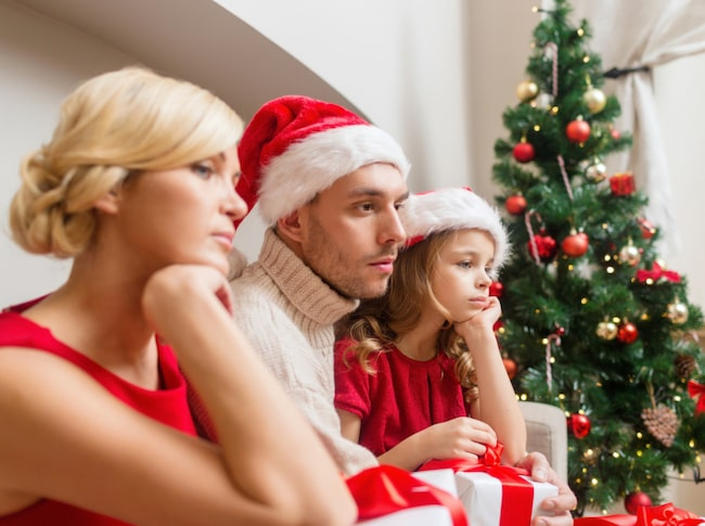 Att fira jul i Finland kan bli en riktigt deppig historia...