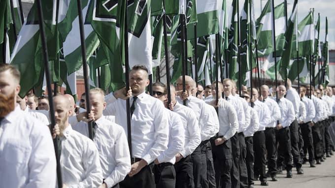Nordiska motståndsrörelsen i Falun 2017. Foto: SVEN LINDWALL