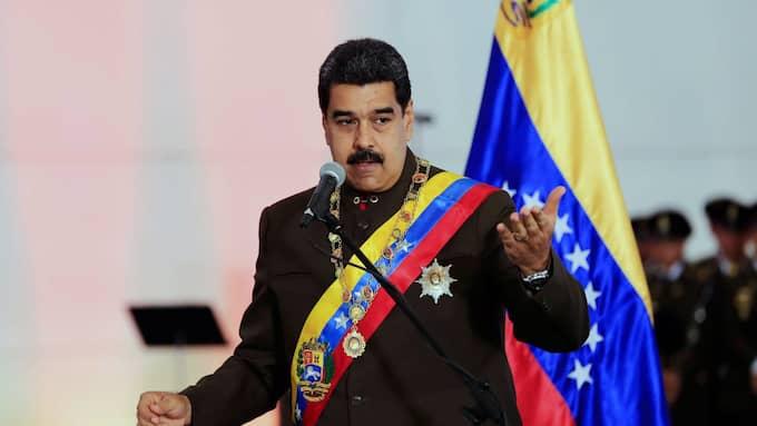 President Nicolas Maduro vann makten i Venezuela efter att partikamraten Hugo Chávez dog 2013. Foto: MIRAFLORES PRESS HANDOUT / EPA / TT / EPA TT NYHETSBYRÅN