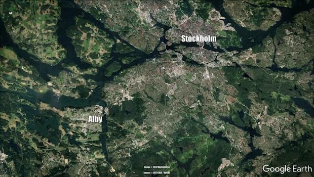 Explosion mot flerfamiljshus i Alby i Stockholm