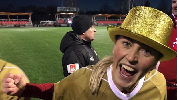 """Galna glädjen efter historiska guldet: """"Där ser ni!"""""""