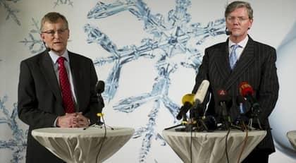 Spyker-vd:n Victor Muller och Saab:s vd, Jan-Åke Jonsson. Foto: Henrik Montgomery / Scanpix