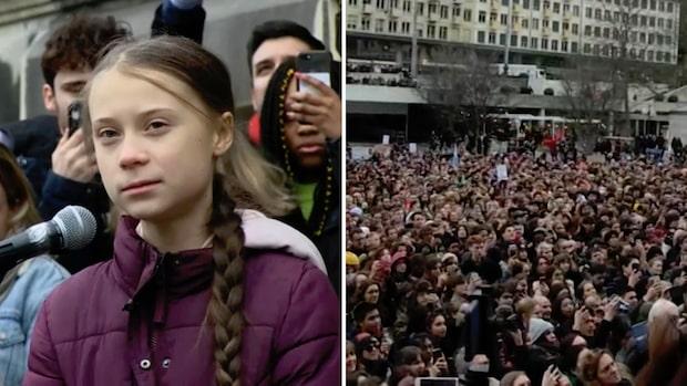 """Se Greta Thunbergs tal i Lausanne: """"Ni har inte sett det sista av oss"""""""