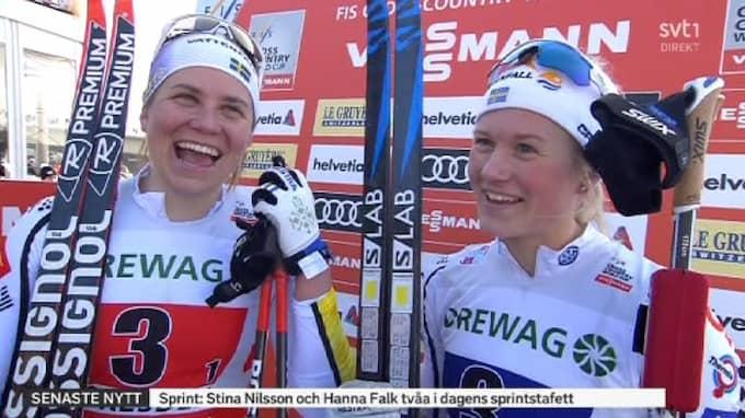 Maja Dahlqvist spurtade ner Foto: SVT.