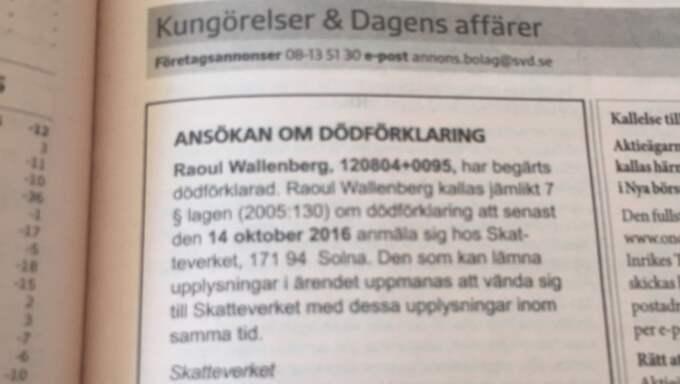 Foto av dagens Svenska Dagbladet.