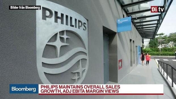 Världens affärer 13:30 - Philips jämförbara resultat bättre än väntat