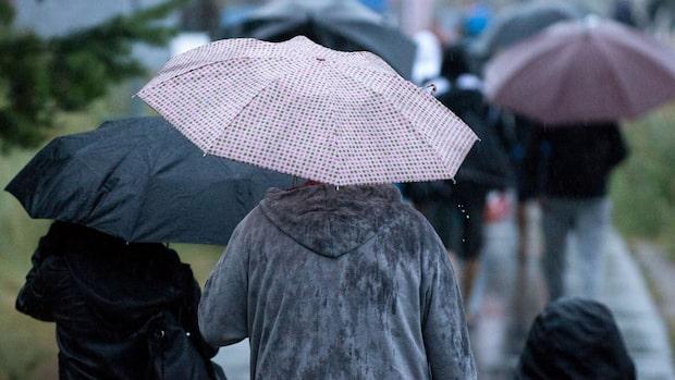 Ett lågtryck leder till ostadigt väder i landet