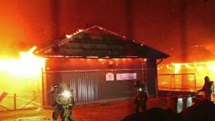 Över 100 djur dog när ladugård brann